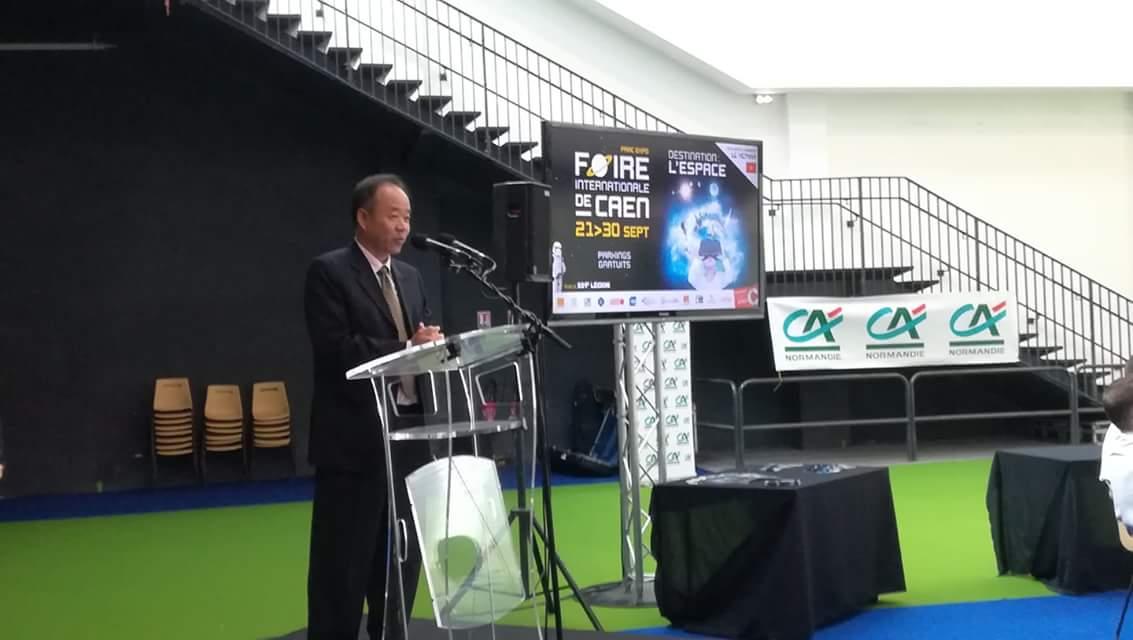 Inauguration #FoiredeCaen : son excellence Nguyen Thiep, ambassadeur du Vietnam en France est