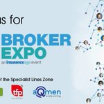 We're delighted to announce that we will be sponsoring the Specialist Lines Zone at #BrokerExpo, Coventry, alongside colleagues from TFP Schemes and aQmen.