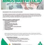 Image for the Tweet beginning: Minustako yrittäjä? - Yrittäjävalmennusta maahanmuuttajille!