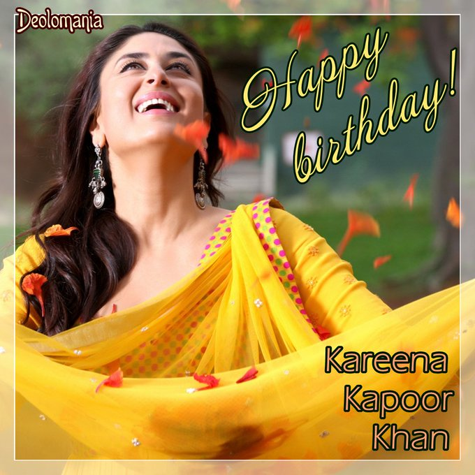 Wishing happy and wonderful birthday to amazing lady Kareena Kapoor Khan!