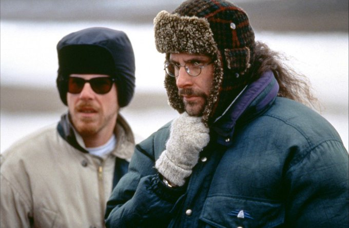 Happy birthday, Ethan Coen!  Here with his brother Joel, on the set of Fargo (1996).