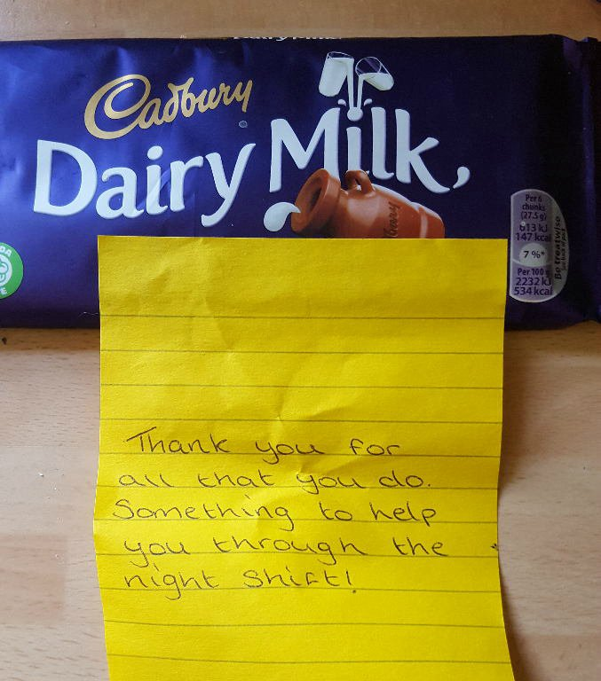 Here's a perfect example of #RandomActsofKindness for #30days30waysUK small gestures make a big difference. @30Days30WaysUK