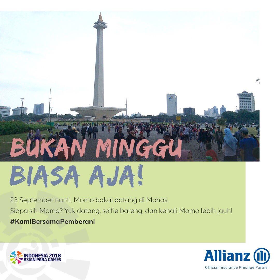 Allianz Indonesia On Twitter 1 2 Halo Sahabat Allianz Di Jakarta Mau Ketemu Sama Maskot Asianparagames2018 Games 2018 Luangkan Waktu Pagi Kalian Di Minggu 23 September 2018 Untuk Datang Ke Car Free Day