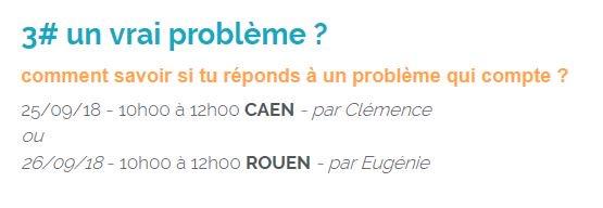 La vie est trop courte pour concevoir des solutions dont personne n'a besoin ! #WorkshopsByNI mardi à #Caen et mercredi…
