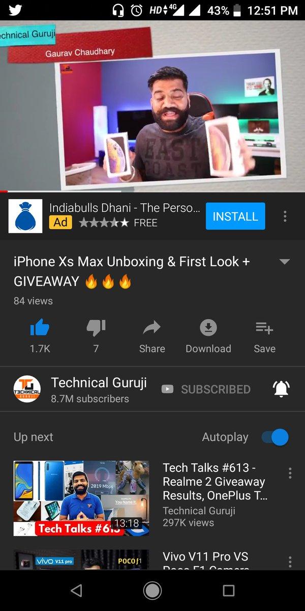 Iphone xs max giveaway result technical guruji