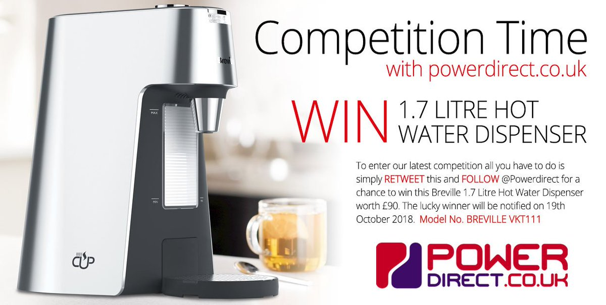 #FridayMotivation... #Retweet &amp; #Follow @PowerDirectUK for a chance to #Win a Breville Hot Water Dispenser. #New #Free to Enter #Competition #Giveaway drawn 19th October 2018.<br>http://pic.twitter.com/sMTZKV7oxv
