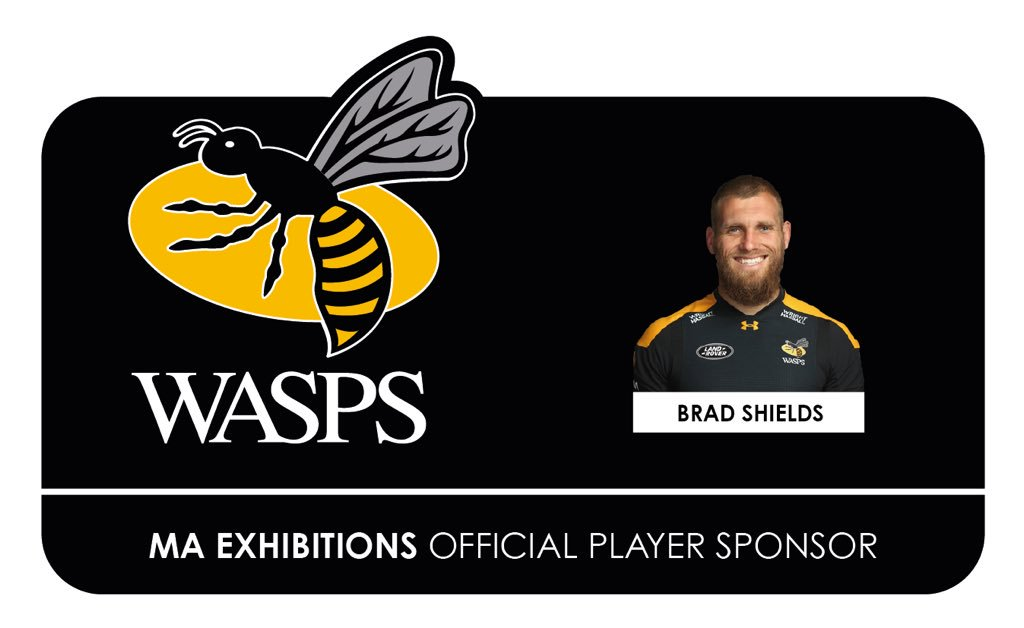 Huge congratulations to @MAExhibitions sponsored player @brad_shields for his inclusion in the @EnglandRugby squad...glad the injury is recovering well #Partners #WaspsFamily #EnglandSquad