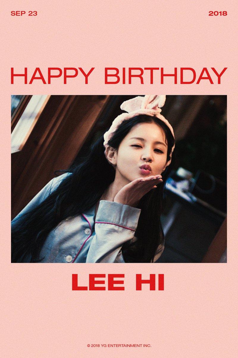 HAPPY BIRTHDAY LEE HI🎉  #LEEHI #이하이 #HAPPYBIRTHDAY #20180923 #YG