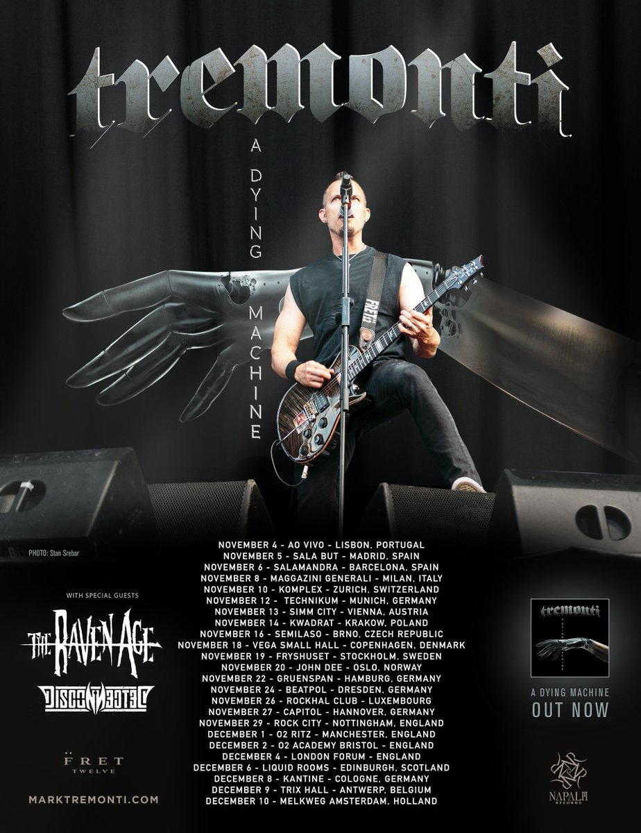 Tremonti On Twitter European Tour Tickets And Vip Available Now At