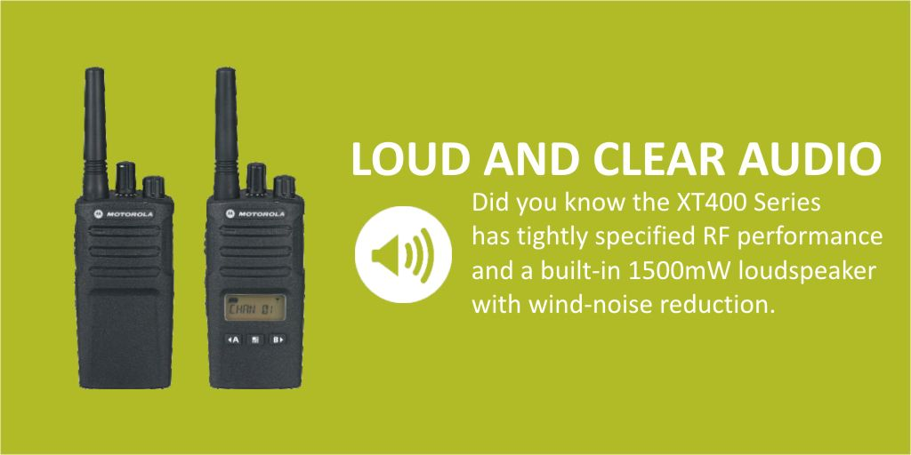 #446friday - Did you know that the @MotSolsEMEA XT400 Series #TwoWayRadios  deliver loud and clear audio no matter what environment you utilise them in | Find out more here https://t.co/Vg7UUl46N4  #pmr446 #walkietalkie @easternshires #esposupplier #heretosupport