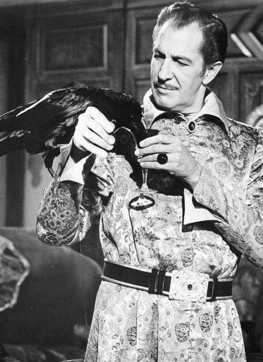 The marvellous Vincent Price in 'The Raven' (1963)  An entertaining horror with a brilliant cast including Boris Karloff and Peter Lorre! <br>http://pic.twitter.com/nG8N8aTwqW