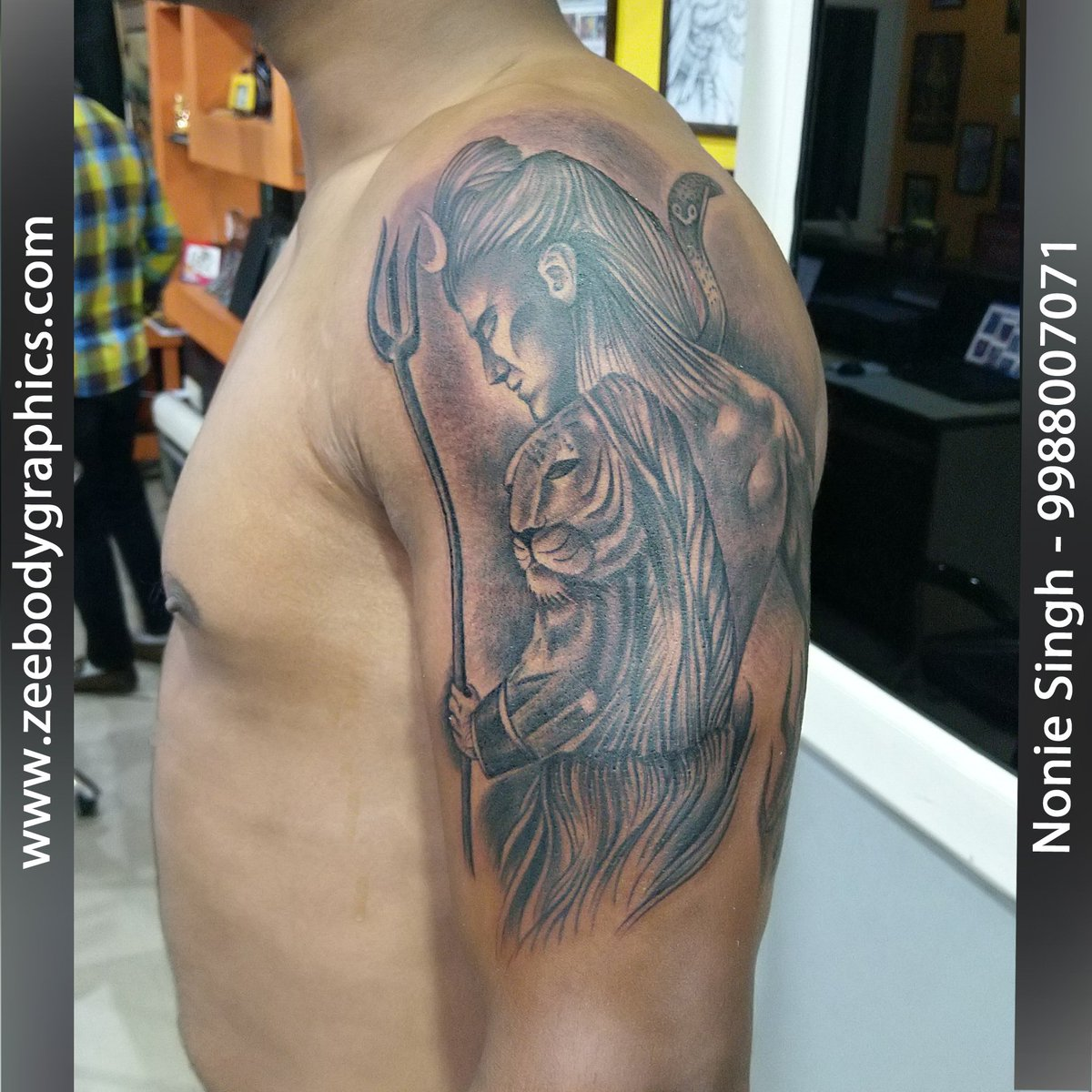 b5ec269753bc4 Here you will find most beautiful and attractive Shiva tattoo designs and  ideas for your Shiva tattoos. Get #AmazingShivaTattooDesign at affordable  price. ...