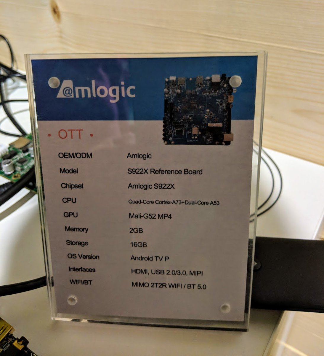 Amlogic officially presents its new SoC's  (Found in Android