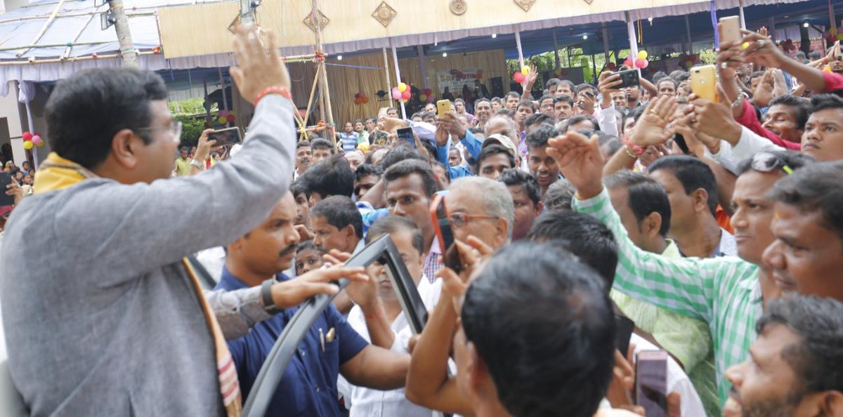 dharmendra pradhan on twitter also met people belonging to various