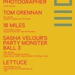 Vandaag op ons programma: Sasha Velour's Party Monster Ball 3 (Max), Tom Grennan (OZ), 18 Miles (Upstairs), 50Hurtz (OZ) en Lettuce (Upstairs). Kijk voor meer informatie op:  https://t.co/AS3hze8lHL