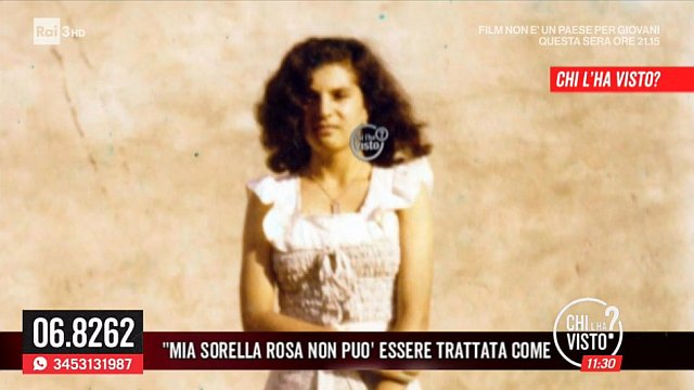"""""""Riprendete le ricerche di Rosa, non può essere trattata come un fascicolo"""": Appello in diretta di Maria Tirotta a #chilhavisto 11:30 http://ow.ly/UPxr30lUED0  - Ukustom"""
