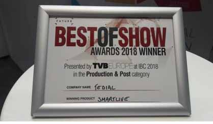 We were very proud to #win a @TVBEurope #BestofShow #award for #SMARTLIVE @IBCShow. Find out more about our entry and how #SMARTLIVE can improve your #livesports #production #workflows #AI #ArtificialIntelligence #IBC2018  http:// bit.ly/2NvDgcM  &nbsp;  <br>http://pic.twitter.com/8rMQV0L37x