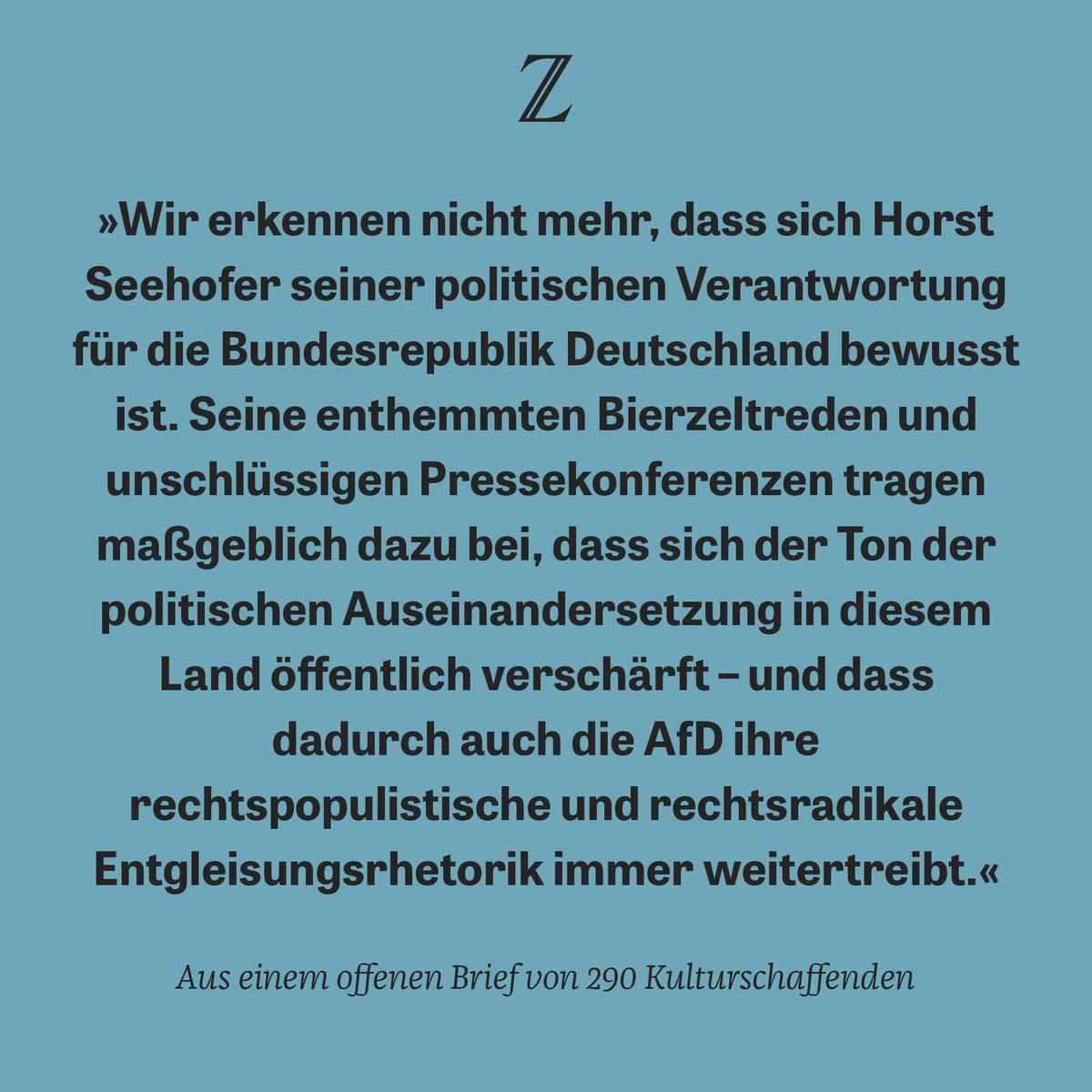 'Wir sind entsetzt': In einem offenen Brief fordern 290 Schauspieler, Regisseure, Autoren und Intendanten den Rücktritt von Horst #Seehofer: https://t.co/qKTRClPUnt