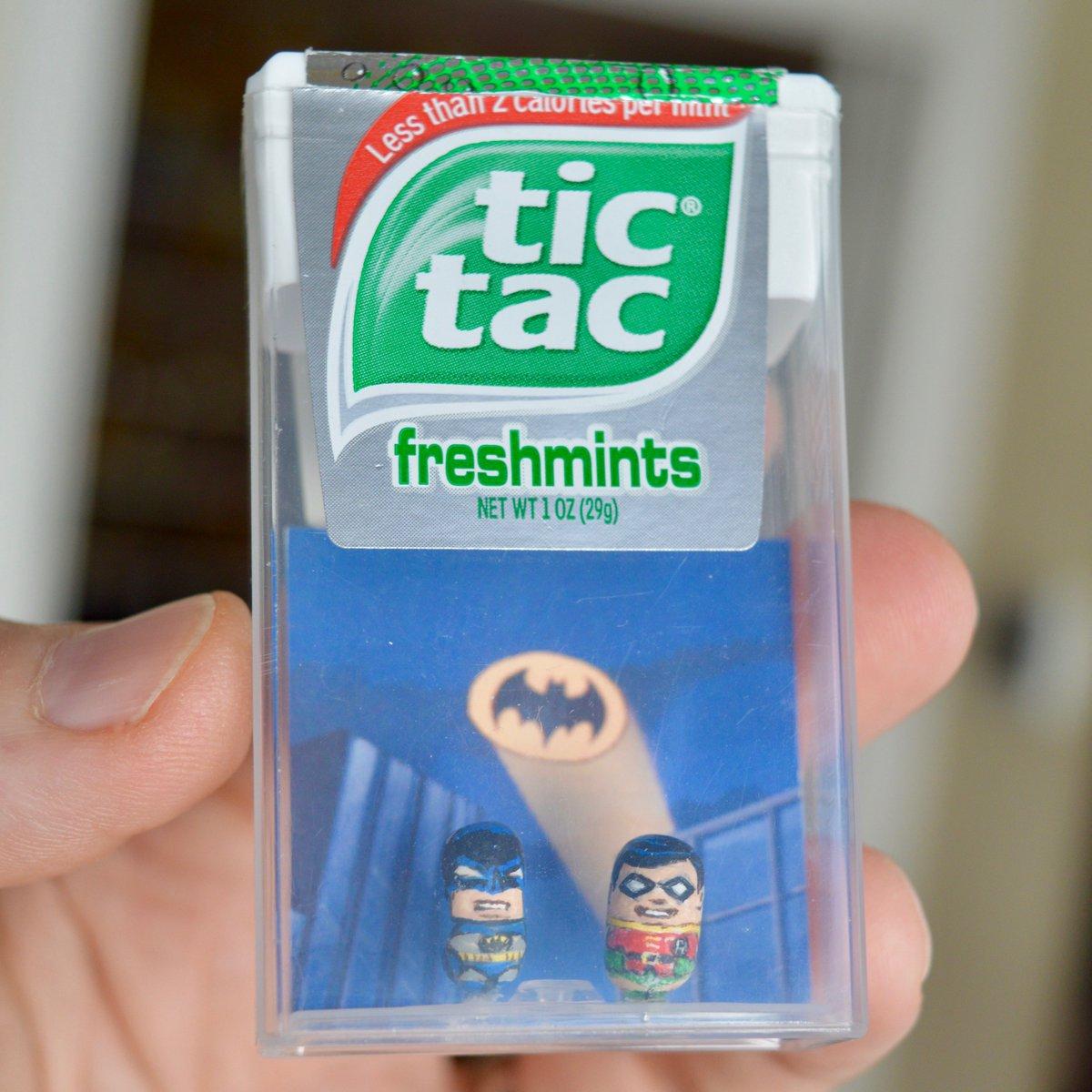 Sweet, minty, tiny justice! #Batman #TicTac (🎨 @SteveCasino1)