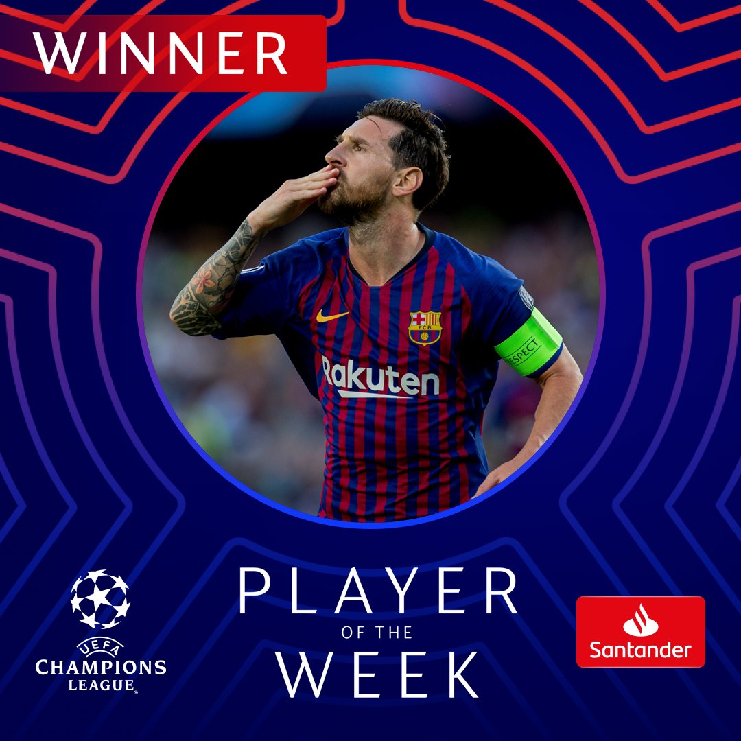 Well played, Leo Messi! 👏👏👏  #UCL #POTW