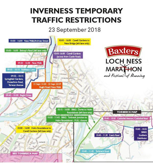Loch Ness Karte.Loch Ness Marathon On Twitter Please Be Aware Of Following