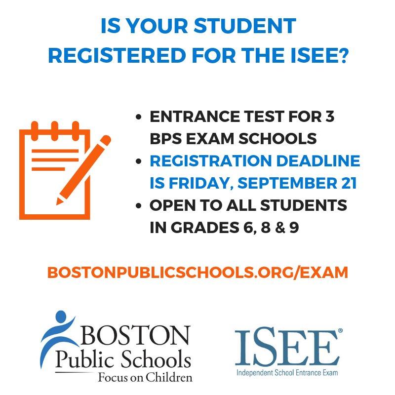 Bostonpublicschools On Twitter Reminder The Deadline To Register