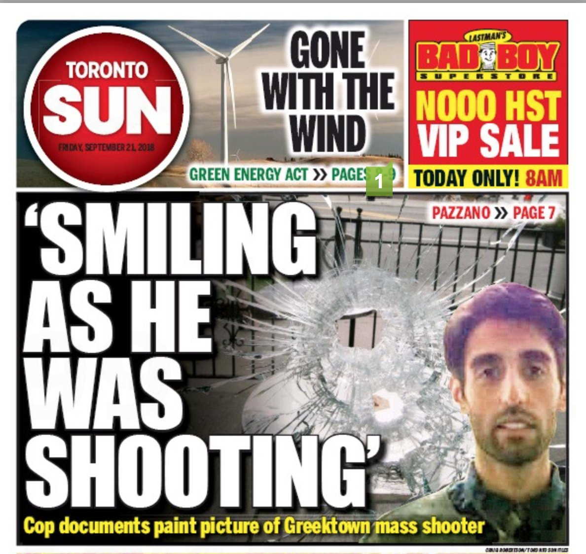 Danforth killer Faisal Hussain stood over a female victim and shot her four times