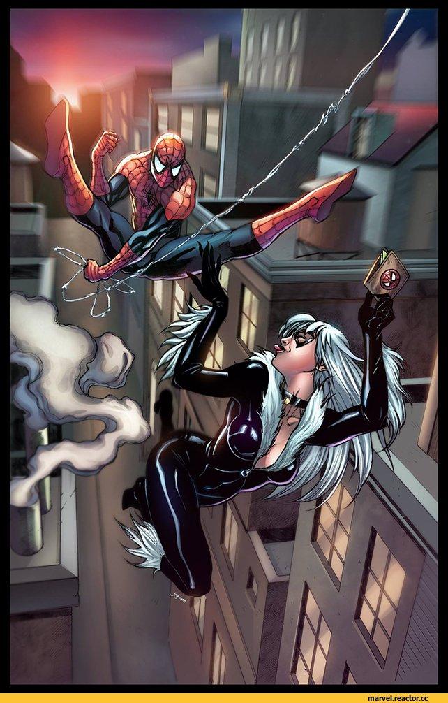 spiderman black cat - 621×960
