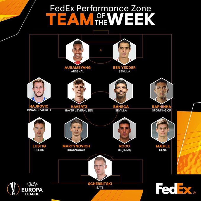 Enzo Roco has been named in the team of the week in Europa League 👏 #UEL Photo