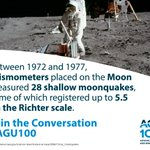 Image for the Tweet beginning: Seismic activity on the moon!