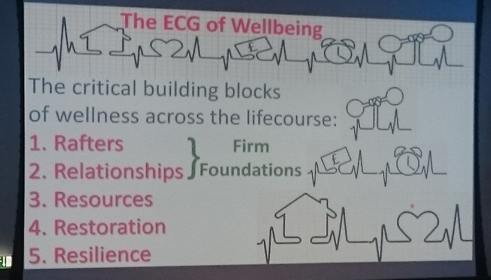 Forget #myresbriggs says @Neil_Hamlet! This is what's needed for quality #wellbeing throughout your life course.  Part of a #PHINS2018 presentation 'From Houses to Homes to Health' @nhsfife #healthwellbeing #ageingwell https://t.co/d8nE8qFNAg