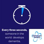 It happens every 3 seconds.  Every 3 seconds, someone in the world develops dementia. And by 2050, the number of people living with the condition will have tripled.  We need care today - and research for a cure tomorrow. RT to help us spread the word this #WorldAlzheimersDay.