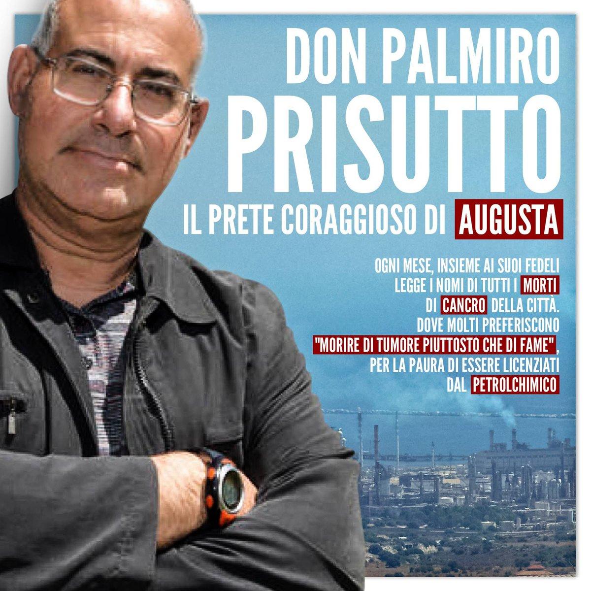 Don Palmiro #Prisutto, il prete coraggioso di #Augusta. Ogni mese insieme ai suoi fedeli legge i nomi di tutti i morti di #cancro della citta\