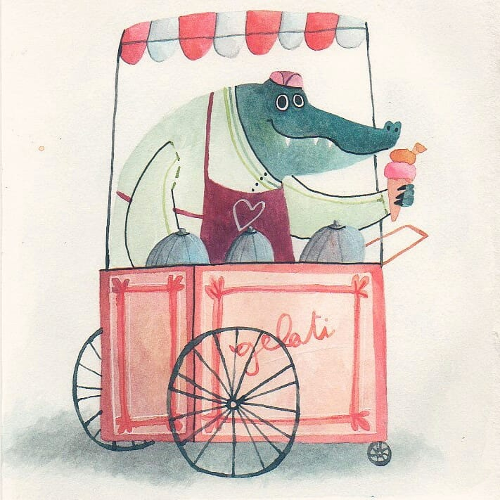 Hi friends, would anyone like an ice cream? Pistachio and mango for me, please! #colour_collective #HookersGreen #illustration #kidlitart <br>http://pic.twitter.com/kLo4pYMehX