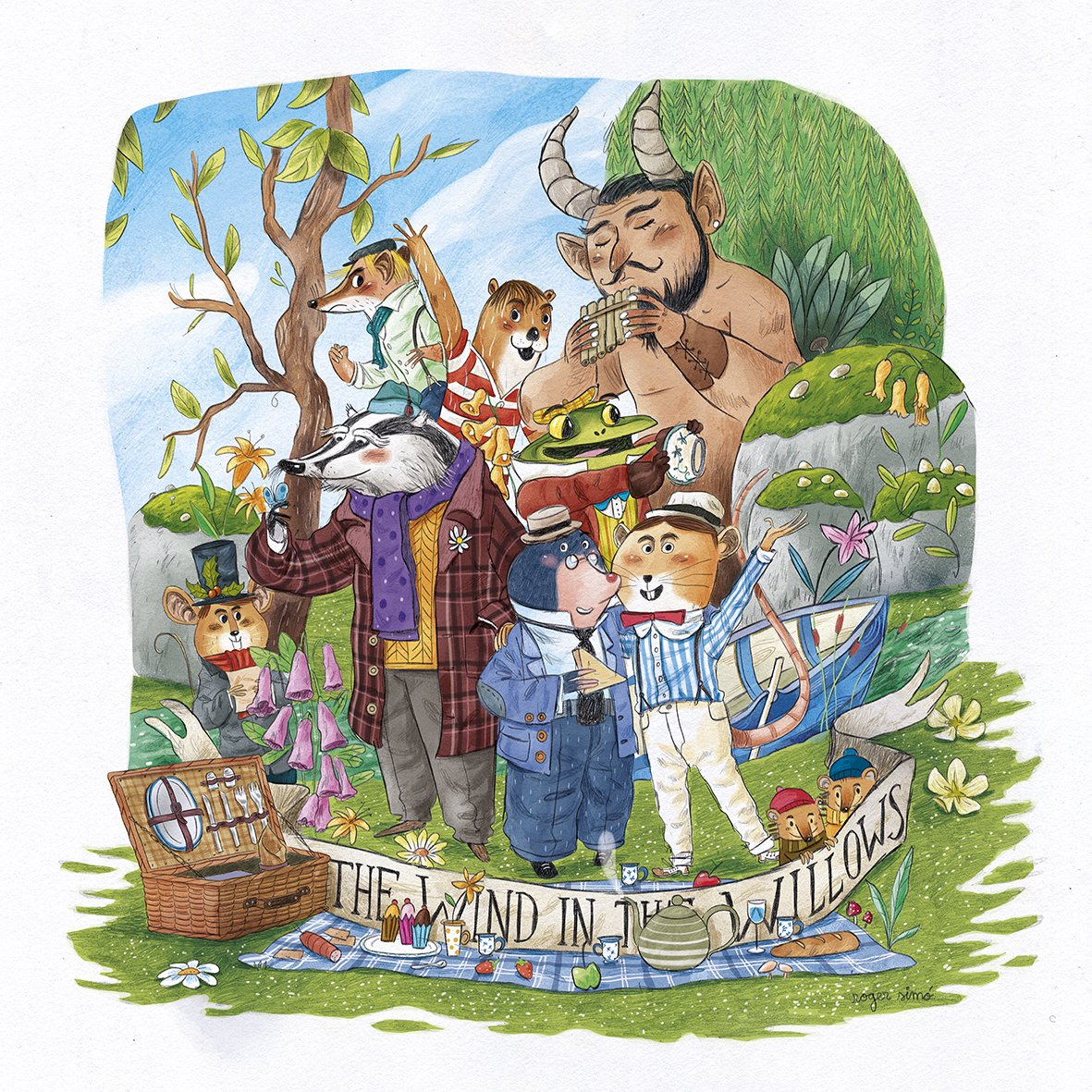I'm afraid there's not much #Hooker&#39;sGreen in my #colour_collective .  One of my favourite books #TheWindInTheWillows. #kennethgrahame #kidlit #kidlitart #picturebooks #childrensbooks #childrenillustration #PictureBooks #rogersimo #illustration #illustrators #kidlitartist<br>http://pic.twitter.com/Y3Esbjtj9G