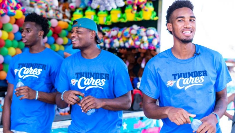 Fair play with T-Ferg, Deonte, and Hamidou 🎡