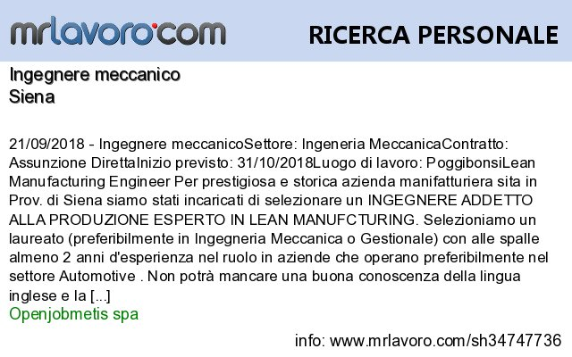 Nuove offerte di #lavoro #Siena:Ingegnere meccanicoInfo:  https:// www.mrlavoro.com/tw34747736  - Ukustom