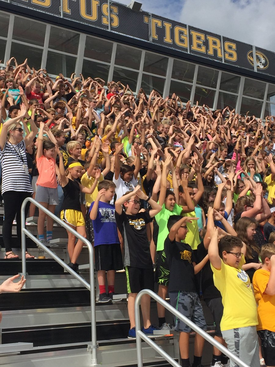 A little YMCA at the Tiger Pride Assembly!!!