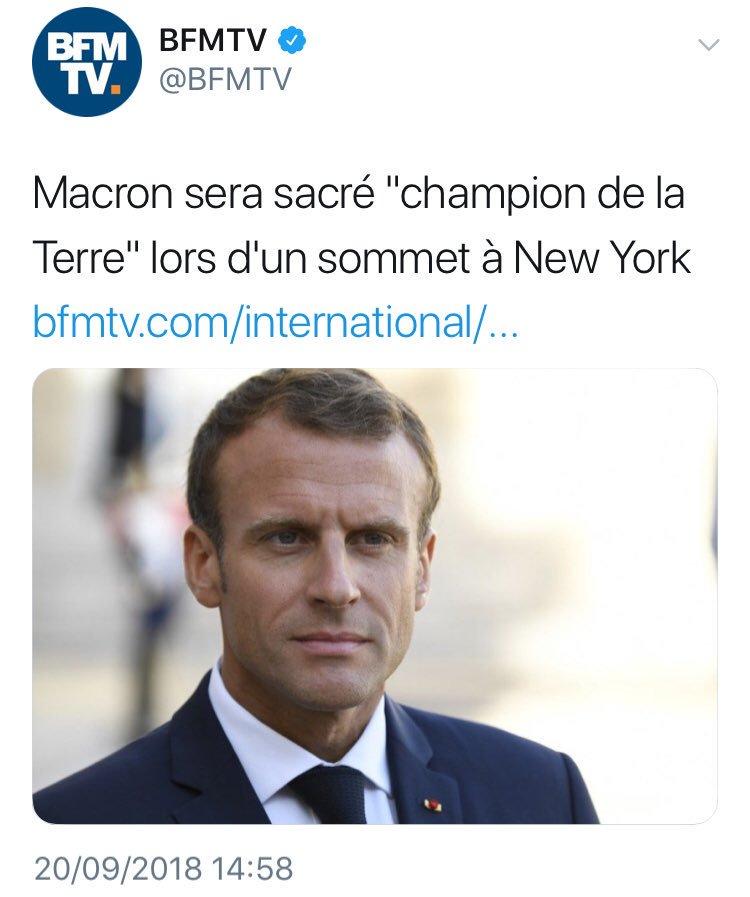 #Macron champion de la Terre ! Et puis quoi encore ?#Collomb champion de l\