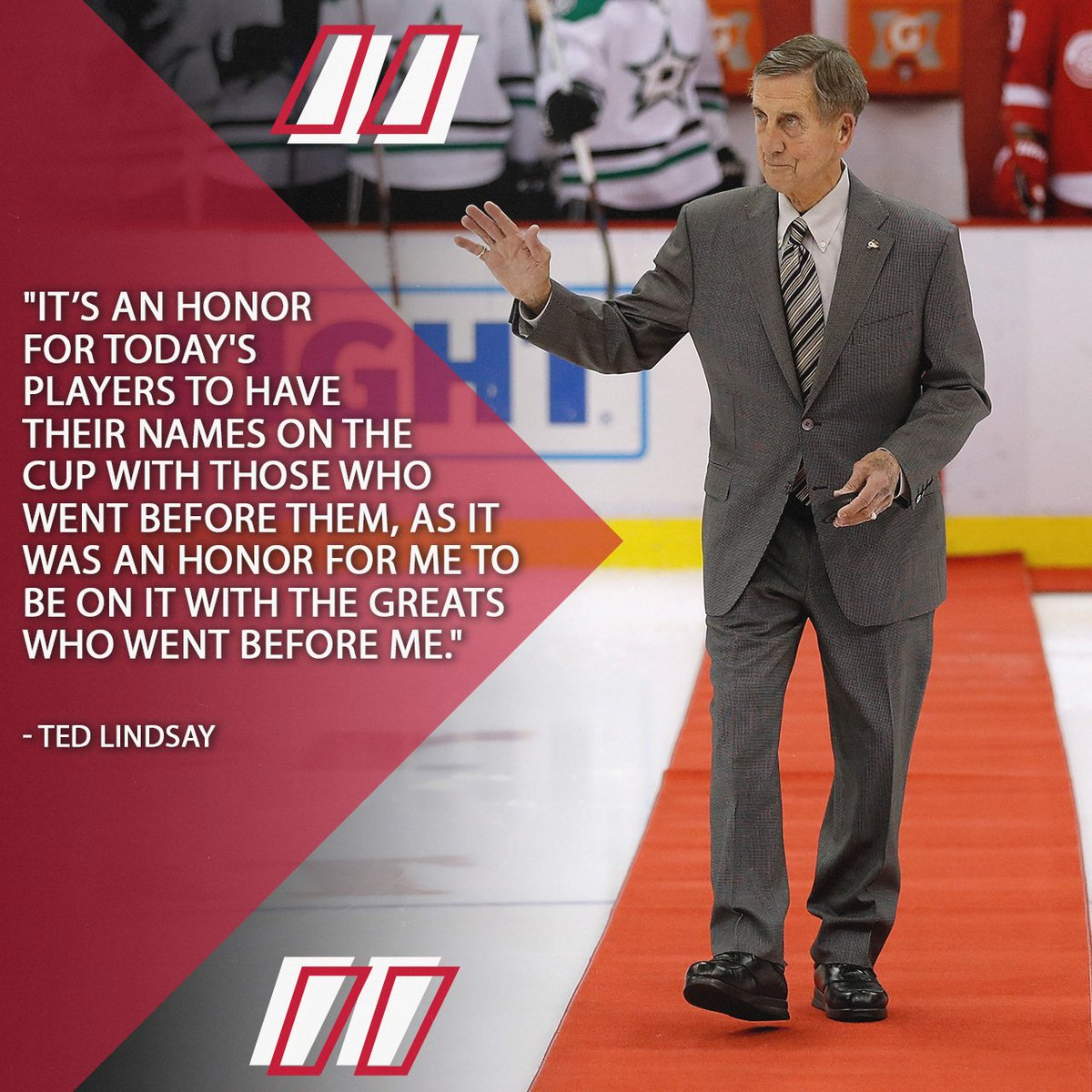 Hockey Hall of Fame legends, including @DetroitRedWings great Ted Lindsay, embrace making room for future champions on the #StanleyCup (via @Dave_Stubbs). atnhl.com/2PVqj8T