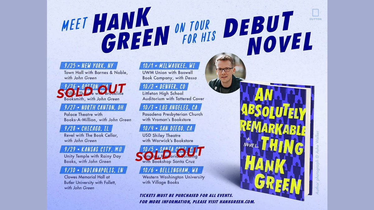 Hank green on twitter finishing up the planning writing unpleasant trivia challenge and a special guest who is probably john in a mascot costume all tickets come with a free bookpicittertithtv5a63 m4hsunfo