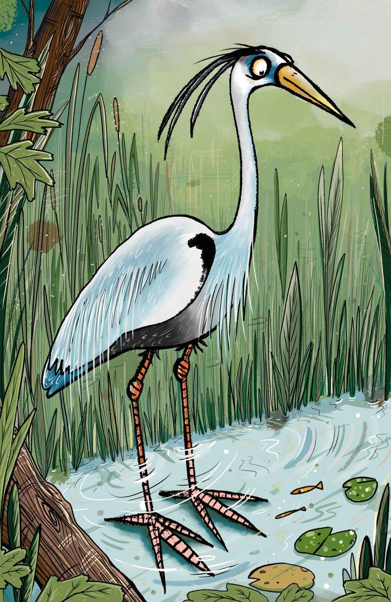 Waiting for it...  #Heron #illustration #kidlitart #characterdesign #childrenbookart #childrenspublishing #illustrators #digital #digitalpainting #comics  #scbwi #childrensbookillustration  #colour_collective @Clr_Collective #HookersGreen<br>http://pic.twitter.com/i9qBsaZKqm