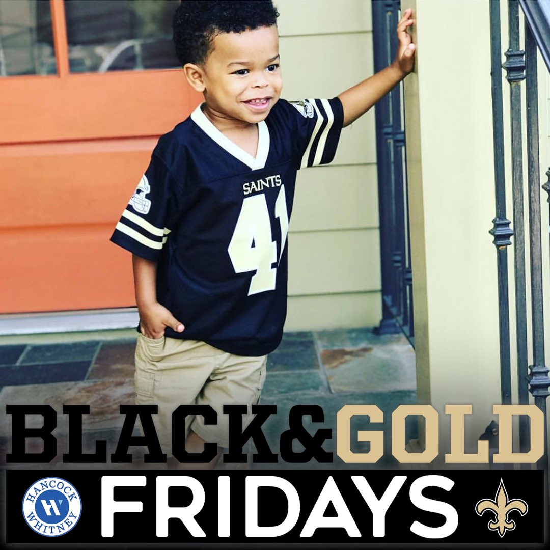 It's #BlackandGoldFriday! Share your 📸 along with the hashtag for a chance to be featured 🖤💛 (via @HancockWhitney )