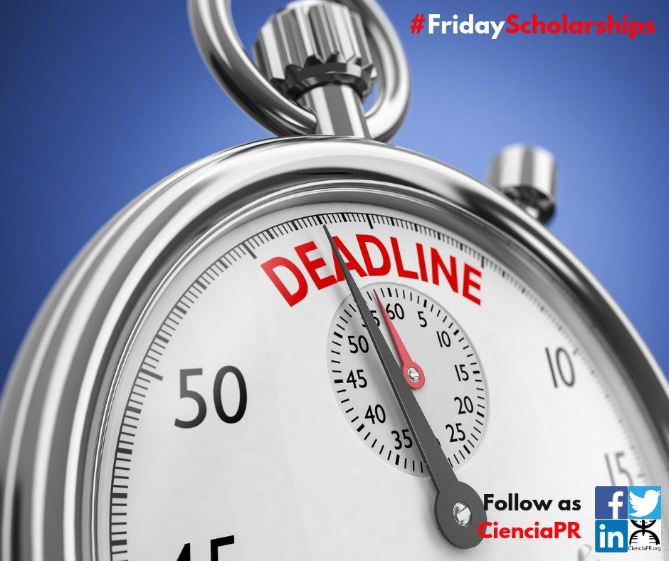 #ViernesDeBecas #FridayScholarships *HAY BECAS PARA ESTUDIOS* en CienciaPR.org Oportunidad de becas para estudiantes de escuela superior, subgraduados y graduados. 👉 buff.ly/2DqXr7k