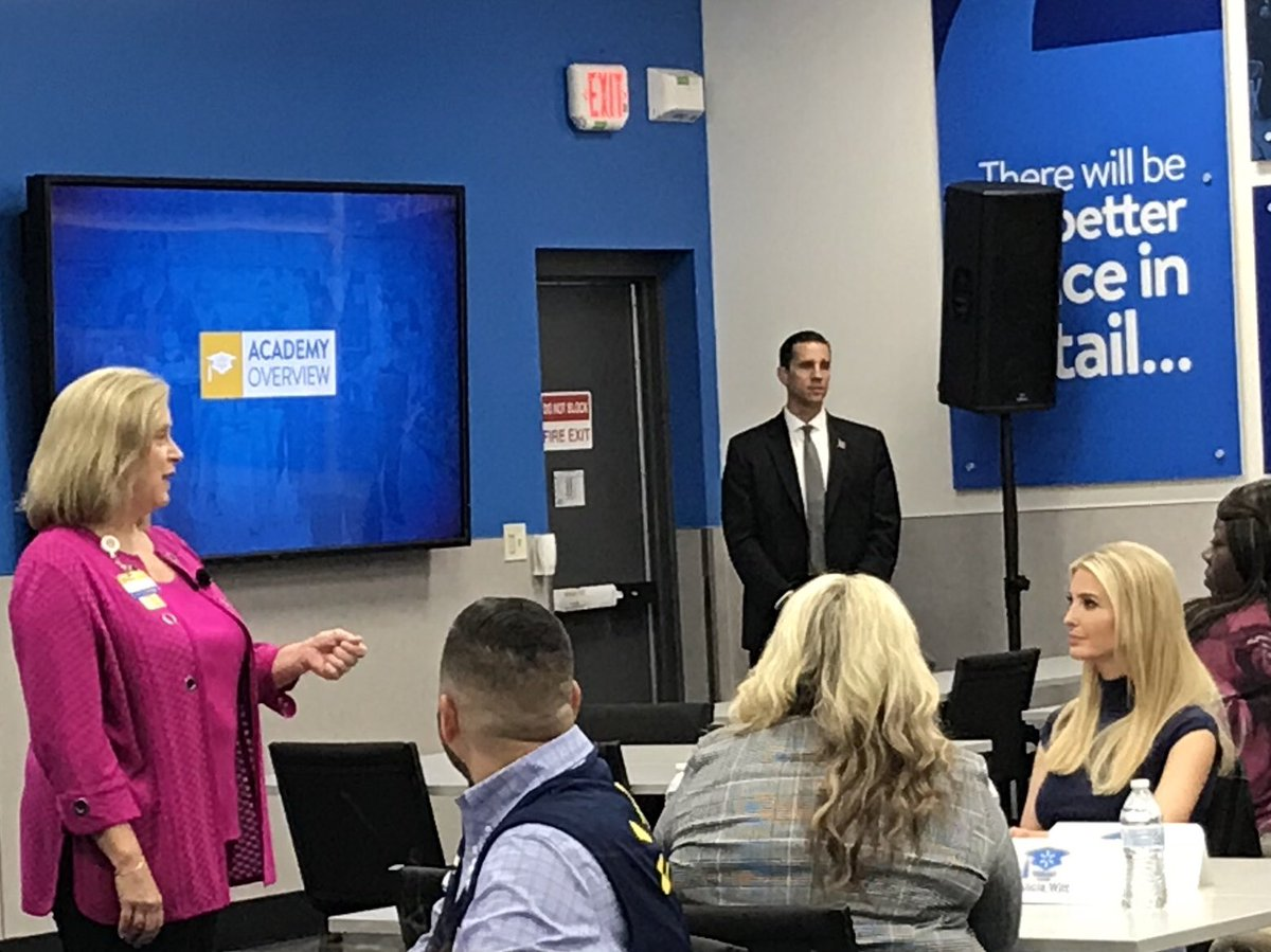 Walmart Execs In Mesquite TX Talk To IvankaTrump About The 2 Year Old Training Academy Which Started NTX There Are Now Almost 200 Around US