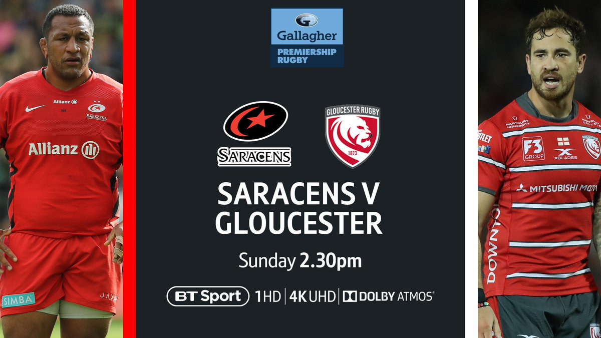 test Twitter Media - There's another belter in the #GallagherPrem tomorrow afternoon!  🏉 Saracens v Gloucester 🏉 📍 Allianz Park  One place to watch it 👇 https://t.co/kZdZTkKRE5