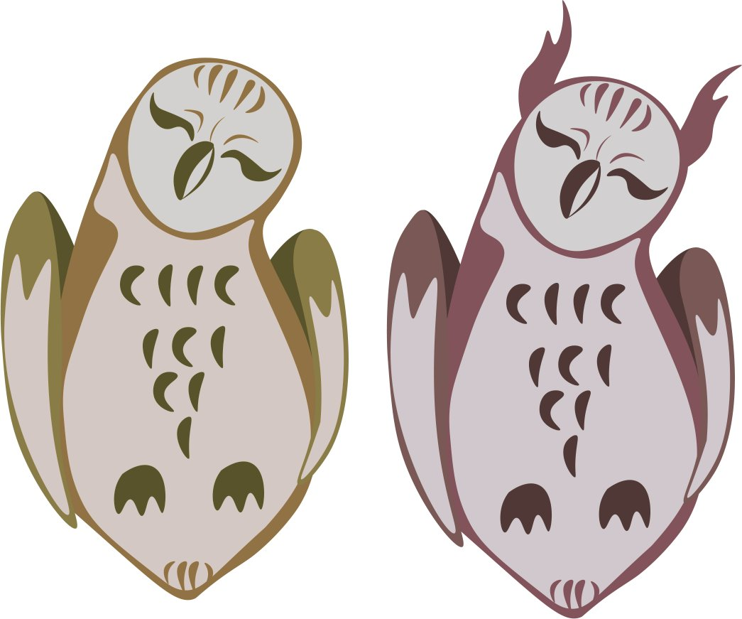 I&#39;m tryng out vector art cause I gotta for class works so here are some lil owls <br>http://pic.twitter.com/WK0FlCVecA