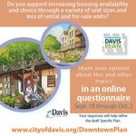 Image for the Tweet beginning: Fill out the Downtown Davis