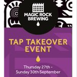 Image for the Tweet beginning: Our @MagicRockBrewCo Tap Takeover Street
