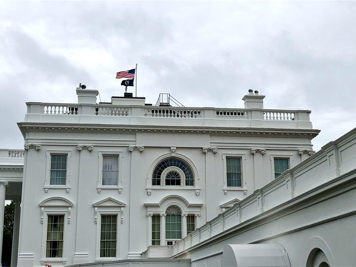 POW/MIA flag flying over WH on this National POW/MIA Recognition Day